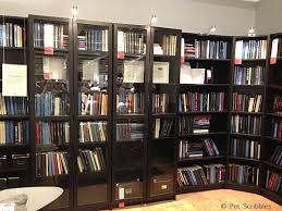 ikea store display of billy bookcases for library book room