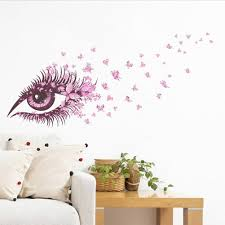 charming fairy eye wall sticker for kids rooms flower