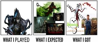 Warframe Meme - nekros the spookiest warframe what i watched what i expected