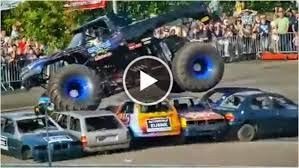 monster truck video for monster trucks crashes cars more information