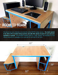 Build A Wood Desk Top by The 25 Best Gaming Desk Ideas On Pinterest Gaming Computer Desk
