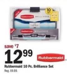 rubbermaid 10pc brilliance set 12 99 at meijer thanksgiving on