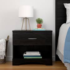 Ameriwood Bedroom Furniture by Ameriwood Crescent Point Black Nightstand 5978325com The Home Depot