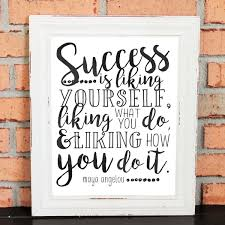 inspirational quotes maya angelou wall art gift success is