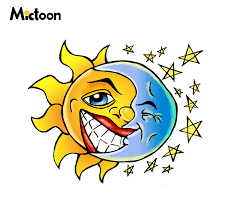 sun moon design by mictoon secret on deviantart