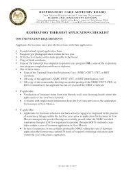 sle respiratory therapist resume 28 images certified