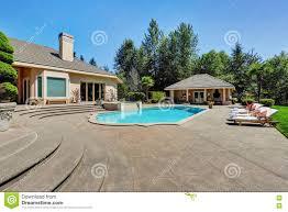 Great Pool Great Backyard With Swimming Pool In American Suburban Luxury