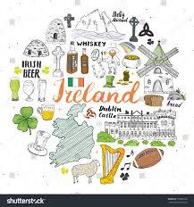 Flag Of Dublin Ireland Ireland Sketch Doodles Hand Drawn Irish Stock Vector 773085532