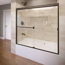 Bathtubs With Glass Shower Doors Frameless Sliding Shower Doors For Tubs Bathtub Home Depot Half