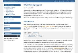 html themes sphinx html theming support sphinx 1 8 0 documentation
