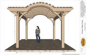 A Frame Kit Home by Up U0026 Coming 16 U0027 X 16 U0027 Timber Frame Barrel Top Pergola Kit