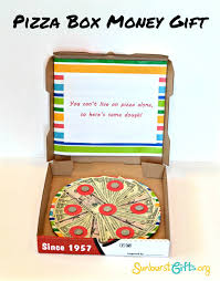 graduation money box here s some dough pizza box money gift thoughtful gifts