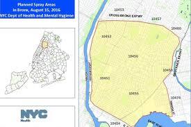 Bronx Map City To Spray Zika Prevention Pesticide In South Northwest Bronx