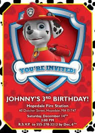 paw patrol birthday invitations nick jr digital file