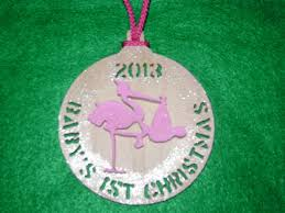 custom baby u0027s first christmas by home sweet home woodcrafts