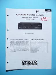 service manual for onkyo a 8220 original u2022 9 94 picclick uk