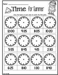 telling time assessment worksheet assessment or time filler for telling time great for end of