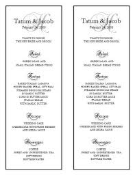 menu template wedding wedding menu template 10 wedding menu templates