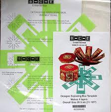 exploding box octagon template b c e