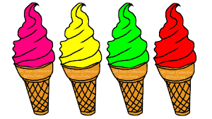 learning colors with ice cream coloring page youtube