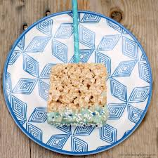 rice krispie treat pops persnickety plates