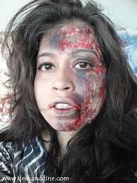 Halloween Makeup Burned Face by Burnt Face Halloween Makeup Tutorial Deck And Dine