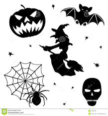 free halloween images on white background halloween silhouette set on white background royalty free stock