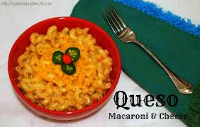 queso macaroni and cheese comfortably domestic