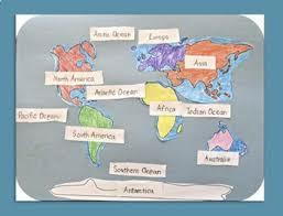 map continents learn the continents and oceans geography map activity by kid
