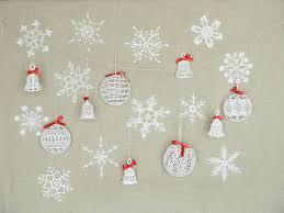 21 lace christmas ornaments crochet snowflakes crochet