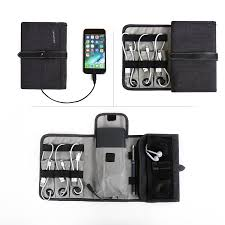 phone charger organizer compact travel cable organizer portable electronics accessories