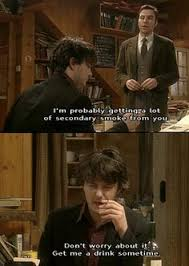 Black Books Meme - oh look the lovely one s on a horse this is how i feel every time