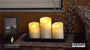 luminara flicker pillar candles at bed bath beyond