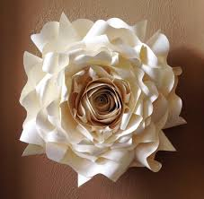 Home Decoration Articles by Large Paper Flowers Wall Decor Shenra Com