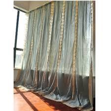 Blue Burlap Curtains Curtain Home Sale Eco Friendly Big Window Cotton Burlap Curtains