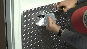 part 1 installing aluminum diamond plate wall panels in garage