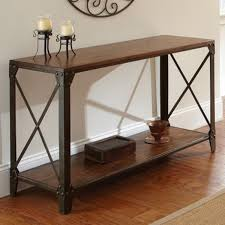wood and wrought iron table country vintage wrought iron table and console table of solid wood