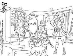 coloriage barbie apprentie princesse blair et isla a colorier