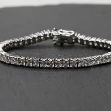 bracelet crystal tennis images Square cut crystal tennis bracelet by queens bowl jpg