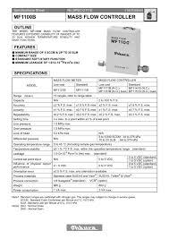 mf1100b mass flow controller ohkura electric pdf catalogue