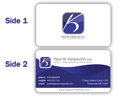 Dental Business Card Designs Serious Modern Business Card Design For Paul Karpovich Dds By
