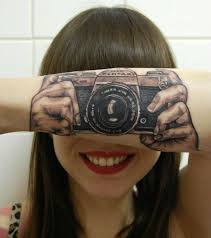 say cheese u0027 camera tattoo turns u0027s forearm into an optical