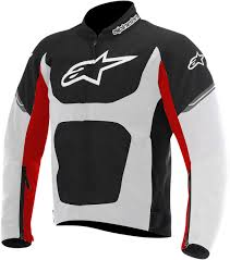suzuki riding jacket alpinestars viper air textile motorcycle riding jacket black white red