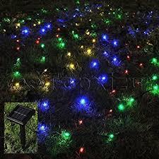 amazon com 1mx2m outdoor solar net led string lights christmas