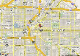 map of comfort inn denver downtown denver