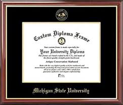 michigan state diploma frame michigan state spartans embossed seal