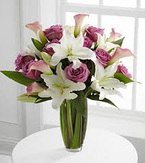 bouquet of lilies flowing luxury bouquet 19 stems va in highlands