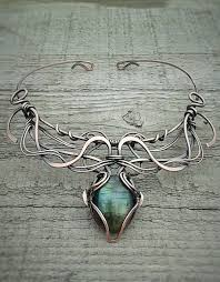 wire jewelry necklace images Labradorite fairy copper wire wrapped necklace wire necklace wire jpg