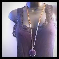 purple stone necklace images C est 1946 jewelry semi precious purple stone necklace poshmark jpg