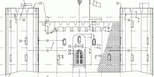 architectural plans castle plans